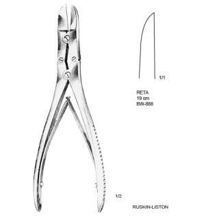 Cizalhas Ruskin-Liston reta 19cm