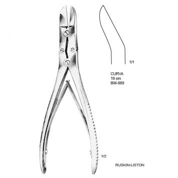 Cizalha Ruskin-Liston curva 19cm