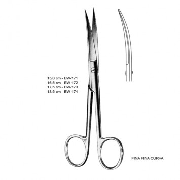 Tesoura Cirúrgica Curva F/F